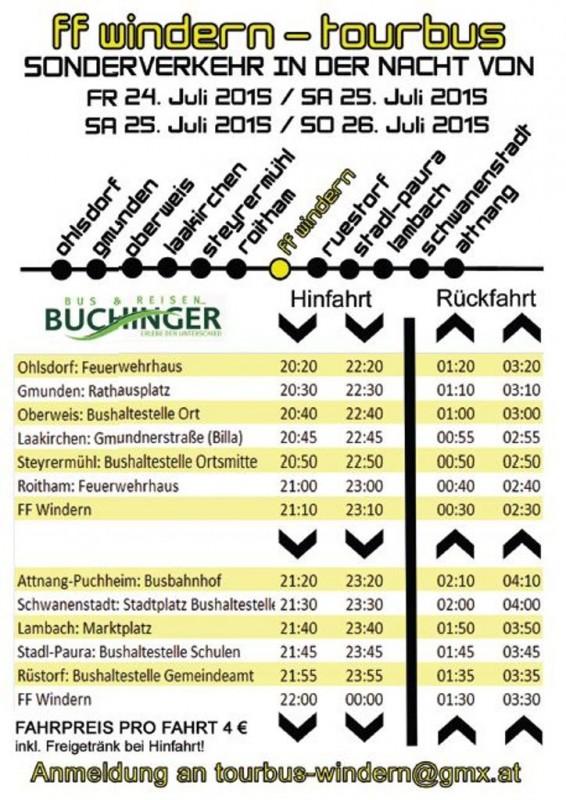 Busfahrplan Zeltfest Windern 1