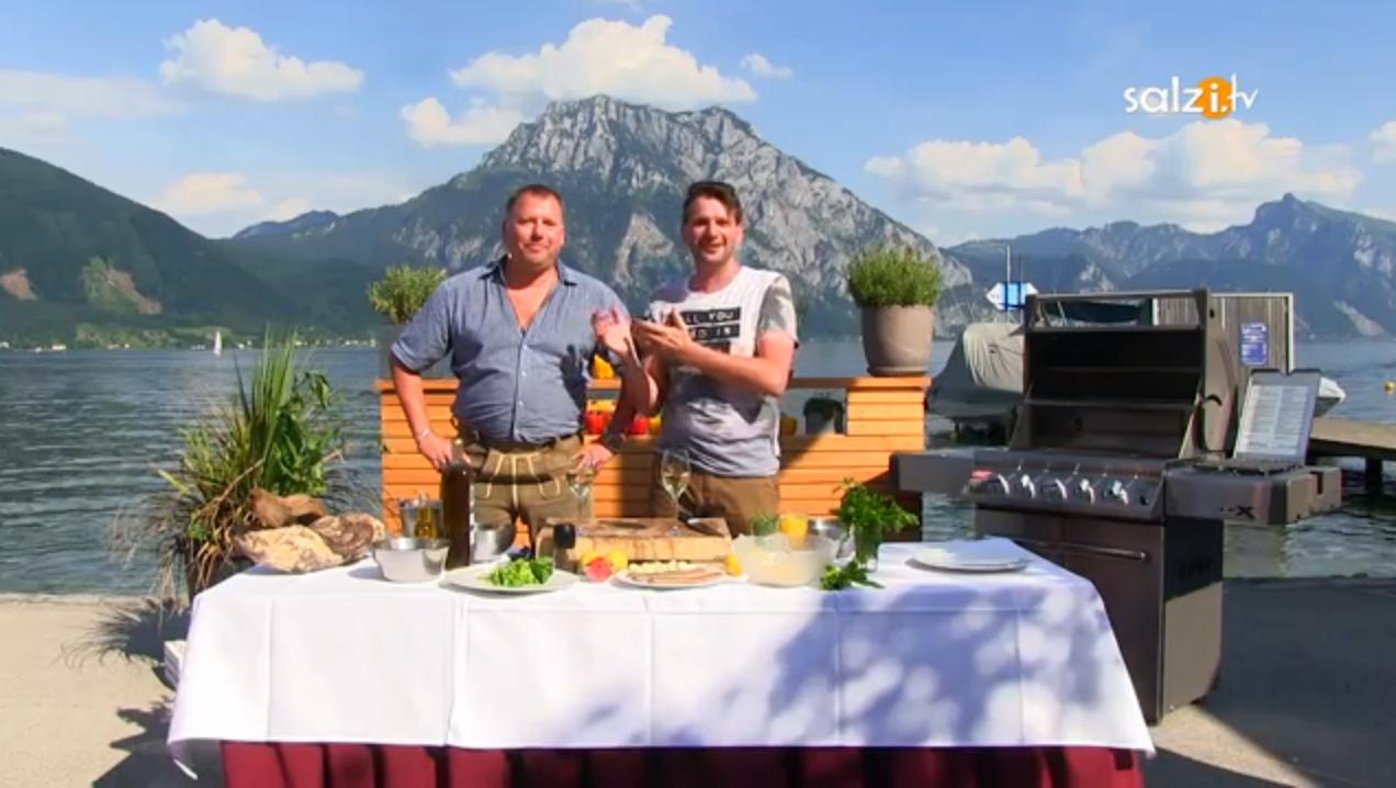 Himmlisch Grillen mit Höller: Saibling mit Couscous Salat