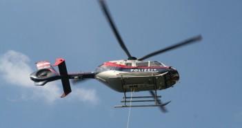 Polizei-Hubschrauberbesatzung rettete Bergsteiger aus Bergnot