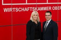 WKO-Bezirksobfrau NAbg. Dr. Angelika Winzig & Josef Renner, Leiter der Bezirksstelle Vöcklabruck (Foto: photo lounge PATRICIA D-K)