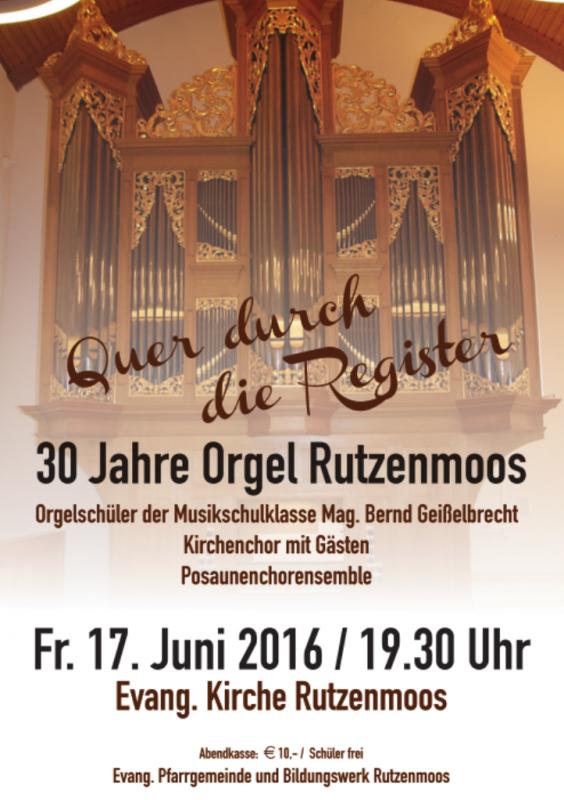 Orgel Rutzenmoos