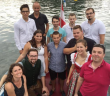 Die JVP Traunkirchen wurde am Wochenende auf einem Schiff am Traunsee gegründet. Neuer Obmann ist Clemens Holzberger (Mitte).