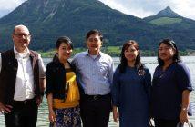 Die thailändische Delegation bei ihrem Vorab-Besuch am Wolfgangsee mit Thomas Möslinger (WTG-Büroleiter St. Wolfgang).  Foto: WTG