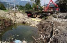Die Bauarbeiten für die neue Eisenbahnbrücke über den Mühlbacheinlauf haben diese Woche begonnen (Foto: ÖBB/Koller)