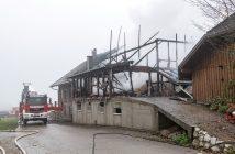 Defekt in Heizanlage als Ursache für Bauernhofbrand in Frankenmarkt