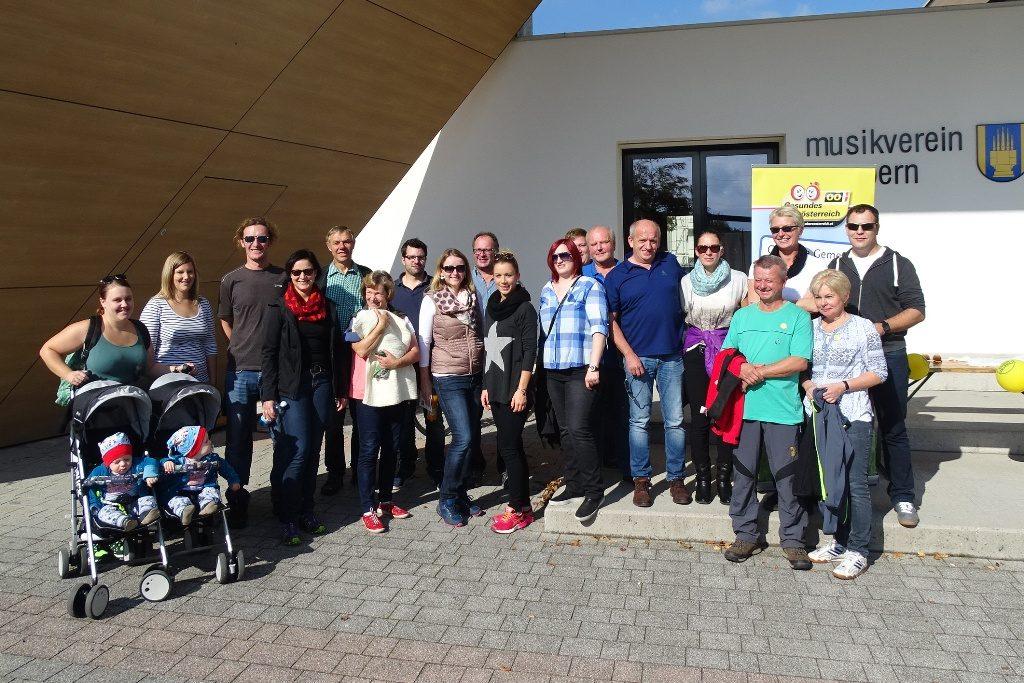 Der Musikverein Gampern nahm am Wandertag teil und spendete 100 € für das Startgeld.