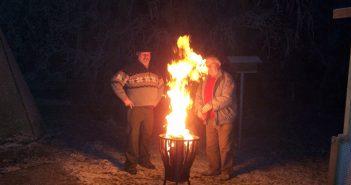 Rudolf Schwarz und Alois Obermayer beim Anfeuern