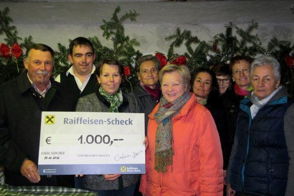 Ohlsdorfs Goldhauben Frauen unterstützen Lebenshilfe (Foto: privat)