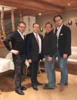 v.l.n.r.: FO Arno Perfaller, ÖAAB Bundesobmann NR August Wöginger, FO Siegfried John, BGF Martin Hillinger (Foto: privat)