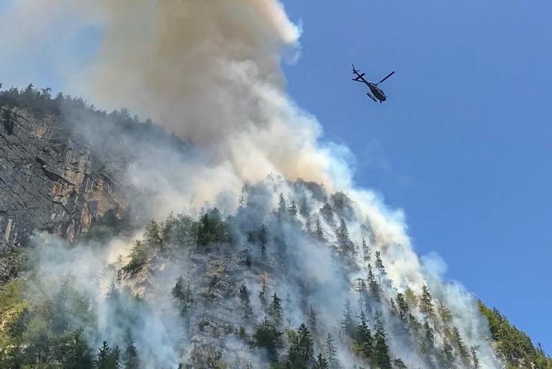 Klettersteig Hallstatt : Waldbrand in hallstätter klettersteig salzi at aktuelles aus