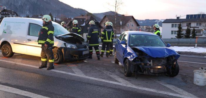 Kollision auf der Salzkammergutstraße in Gmunden