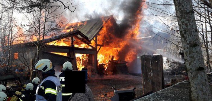 Garagenbrand in Bad Ischl