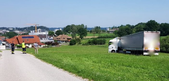 LKW-Fahrer ließ sich von Navigationsgerät in die Irre führen