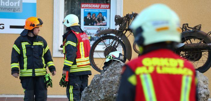 Brand bei Motorradmuseum in Vorchdorf ausgebrochen