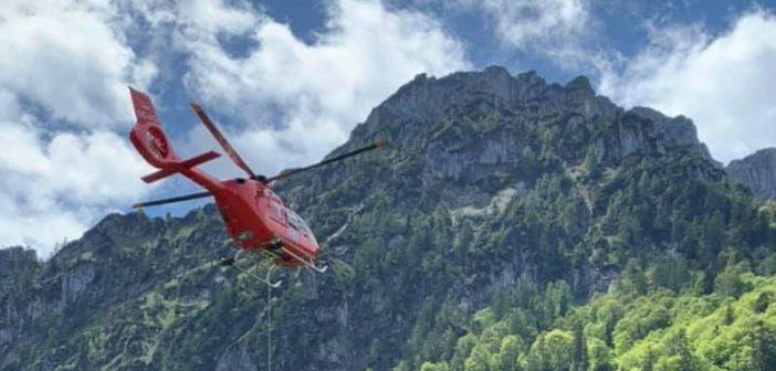 Hubschrauberbergung vom Katzenstein