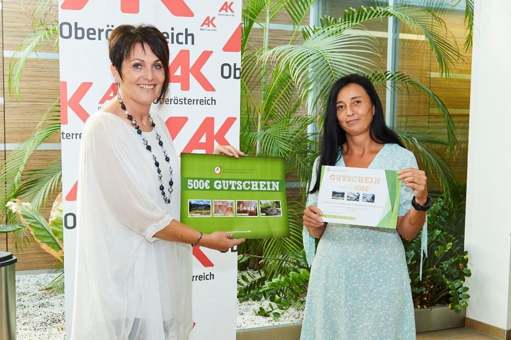 Timelkamerin gewann Gutschein der AK OÖ für Urlaub in Oberösterreich