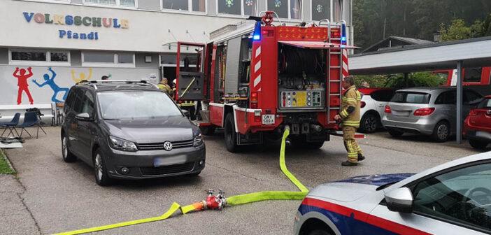 Brand in Volksschule Pfandl
