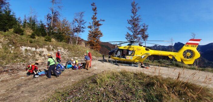 Beim Abstieg vom Windhagkogel schwer verletzt