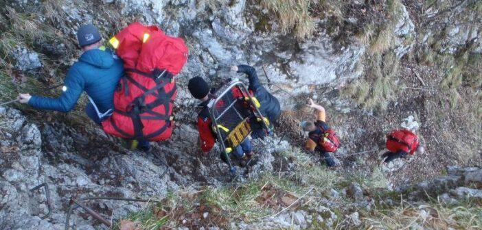 """Bergrettungseinsatz auf der """"Hohen Scharte"""""""